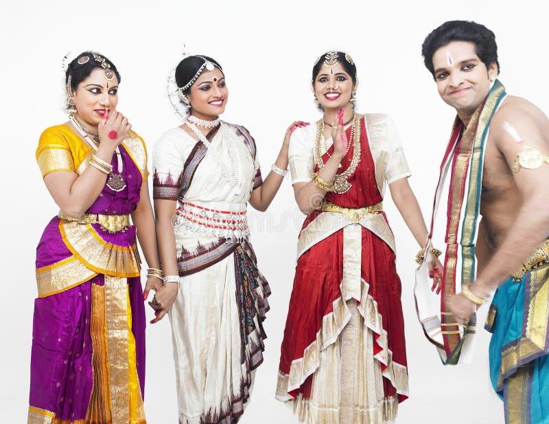 Bailarines clásicos indios foto de archivo libre de regalías