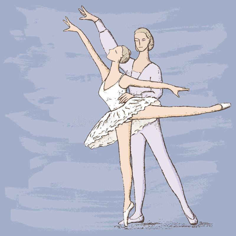 Bailarines de ballet ilustración del vector