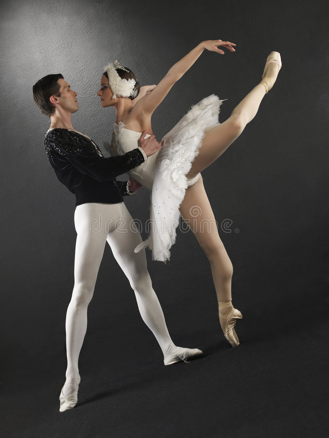 Bailarines de ballet foto de archivo