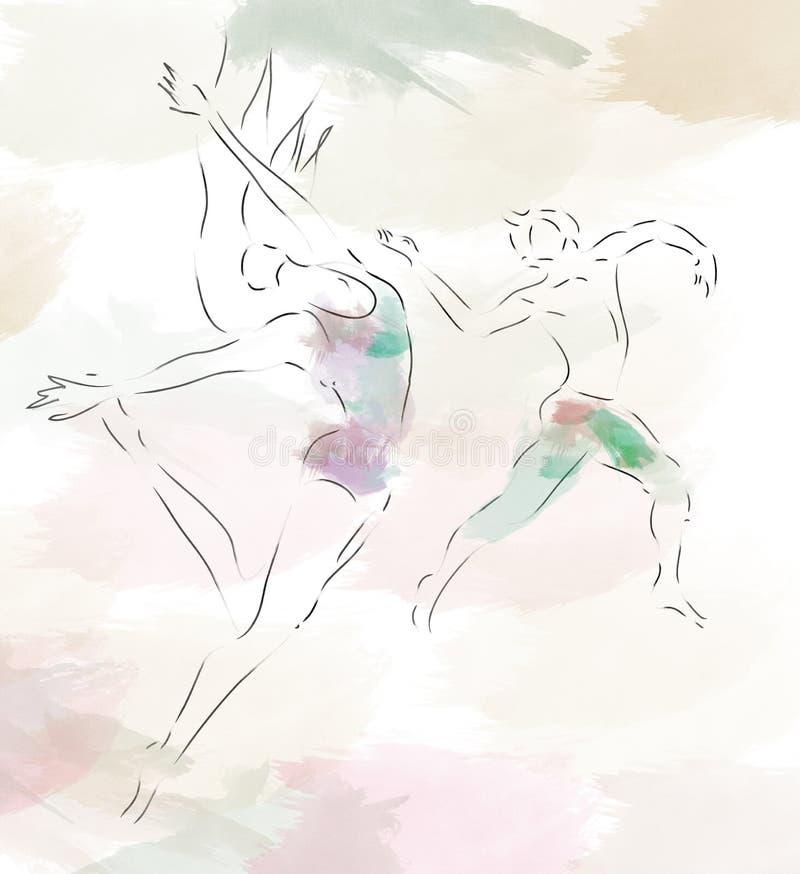 Bailarines de ballet moderno libre illustration