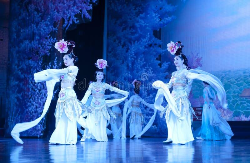 Bailarines de la compañía de la danza de China fotografía de archivo