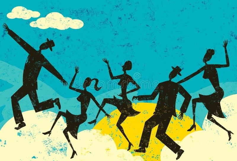 Bailarines de la nube stock de ilustración