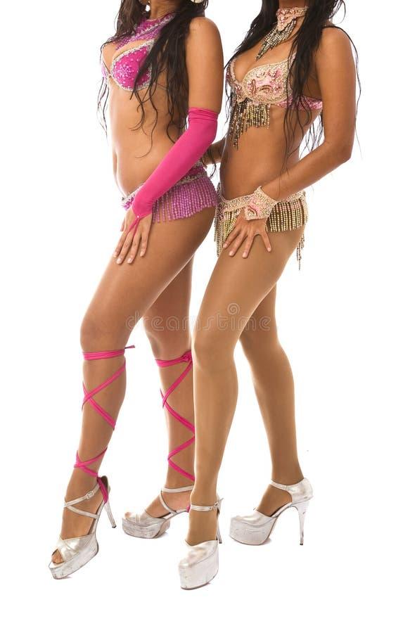 Bailarines de la samba foto de archivo libre de regalías
