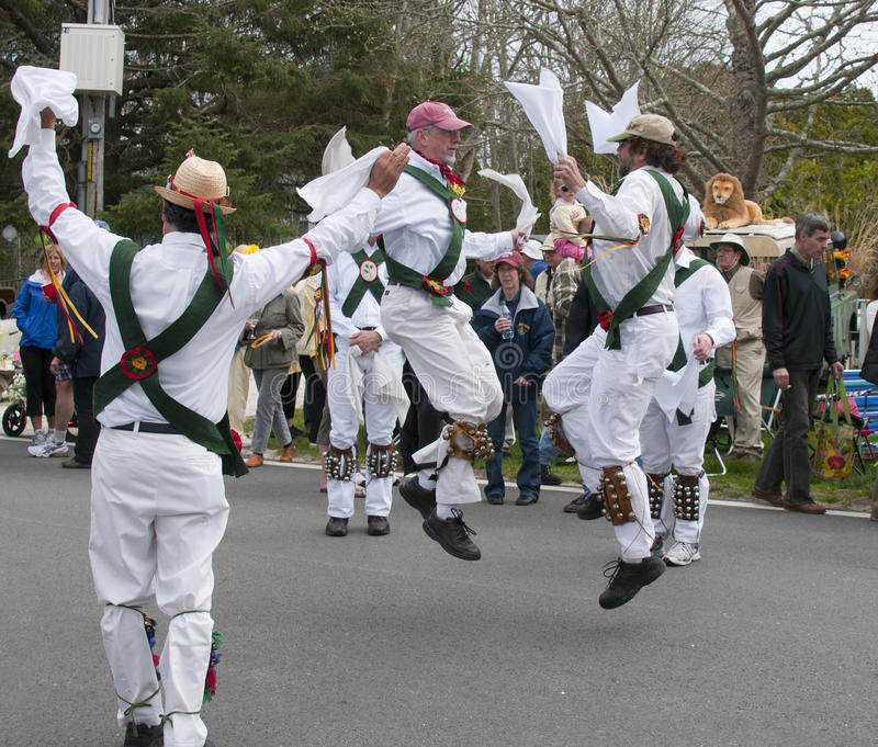 Bailarines de Morris imagen de archivo