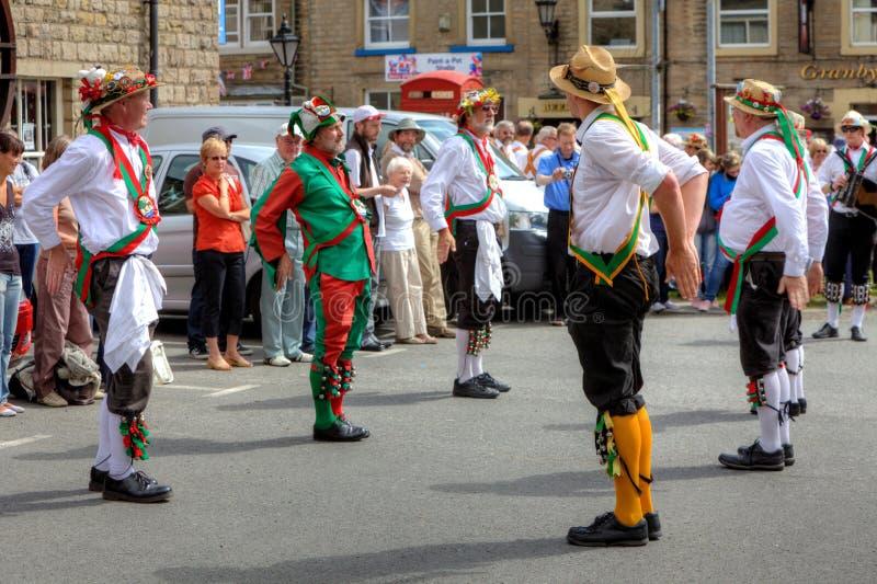 Bailarines de Morris foto de archivo