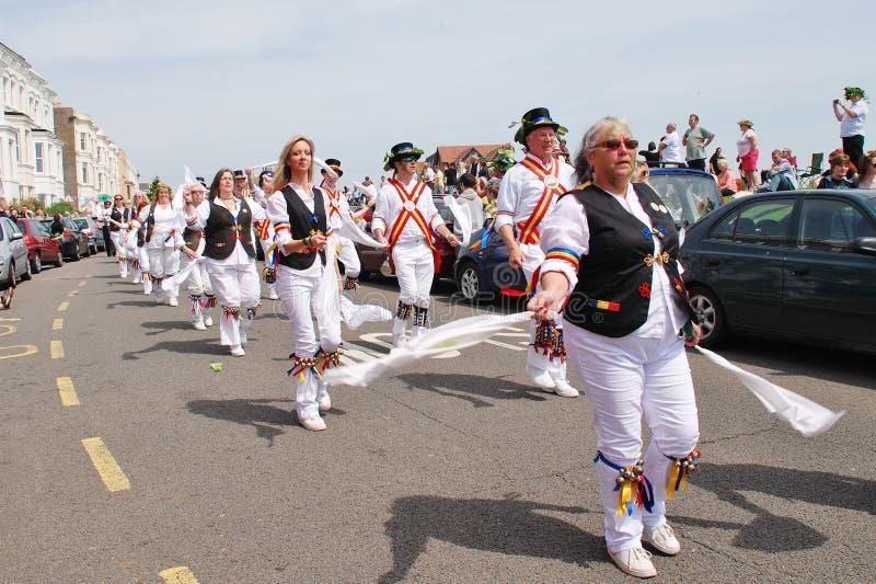 Bailarines de Morris de Jack enojado, Hastings fotografía de archivo