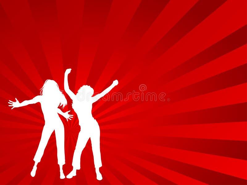 Bailarines de sexo femenino ilustración del vector