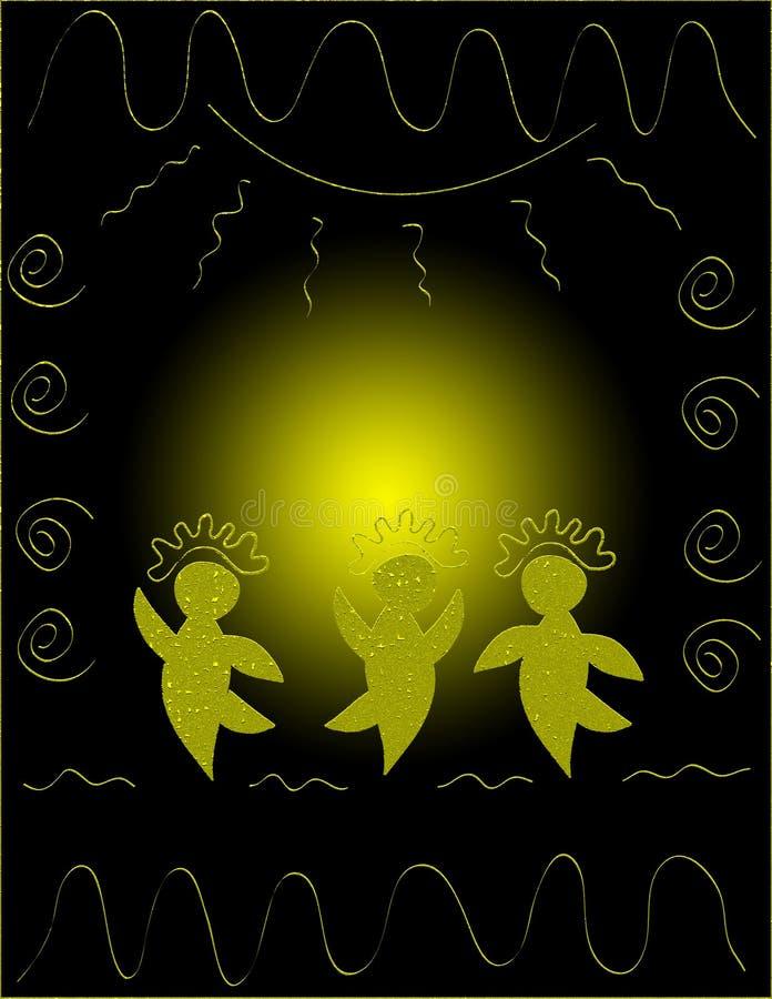Bailarines del círculo stock de ilustración