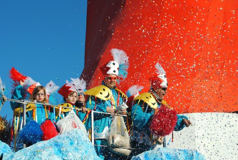 Bailarines del carnaval de Viareggio imagenes de archivo