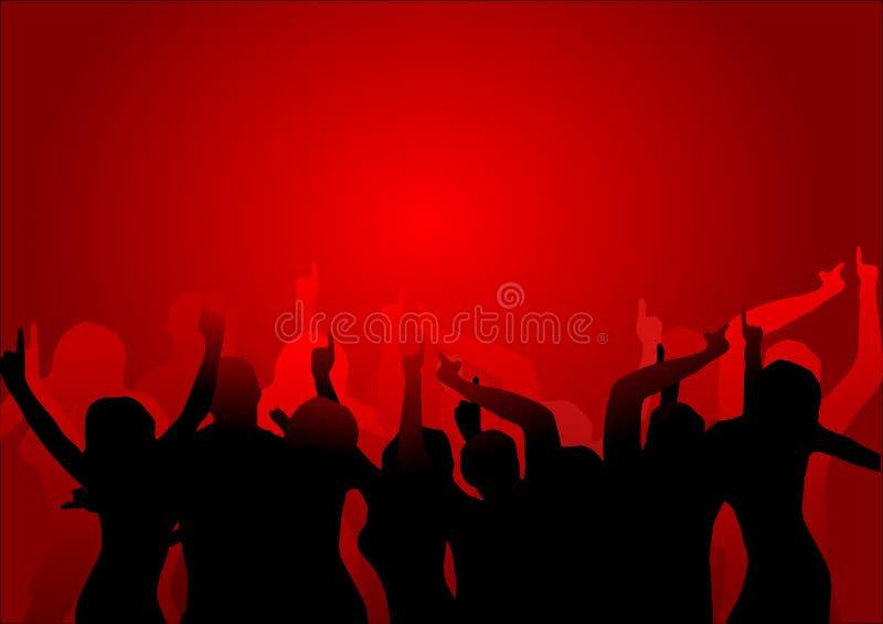 Bailarines del club stock de ilustración