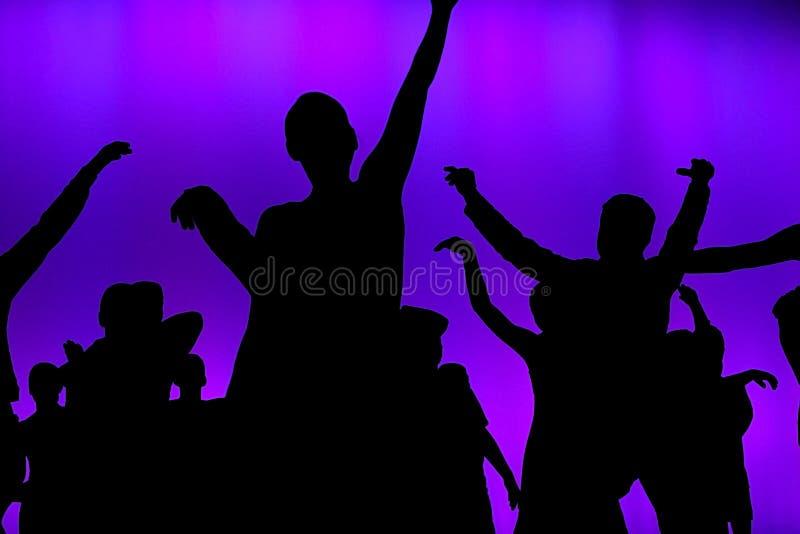 Bailarines del concierto del club fotos de archivo libres de regalías