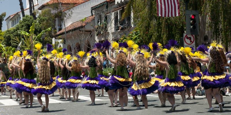 Bailarines del desfile del solsticio