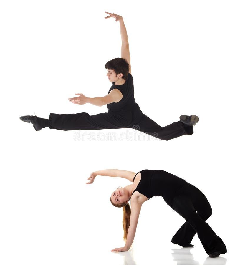 Bailarines del jazz moderno fotografía de archivo