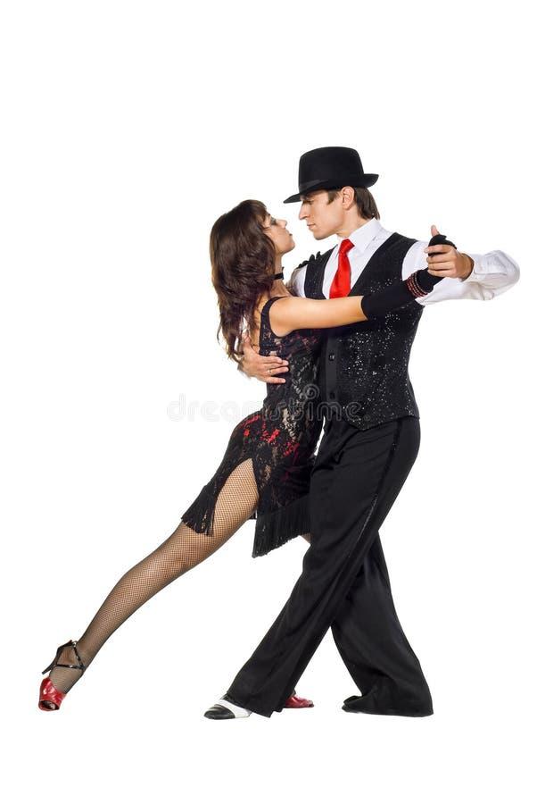 Bailarines del tango imágenes de archivo libres de regalías