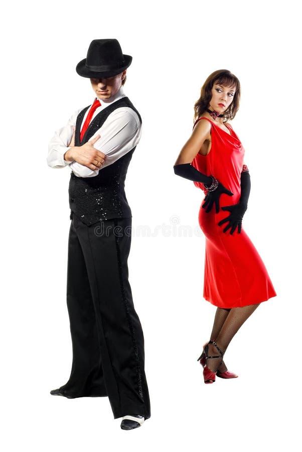 Bailarines del tango foto de archivo