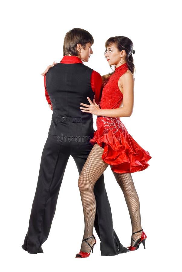 Bailarines del tango en la acción fotografía de archivo