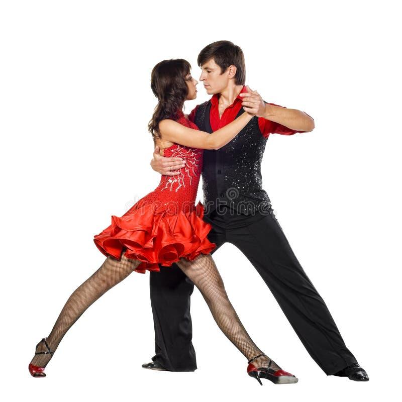 Bailarines del tango en la acción imagenes de archivo