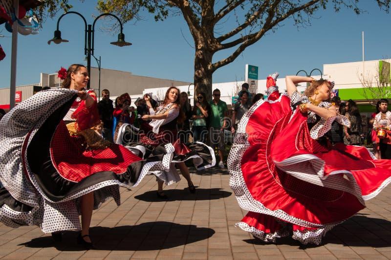 Bailarines en el día Auckland de Rusia fotografía de archivo libre de regalías