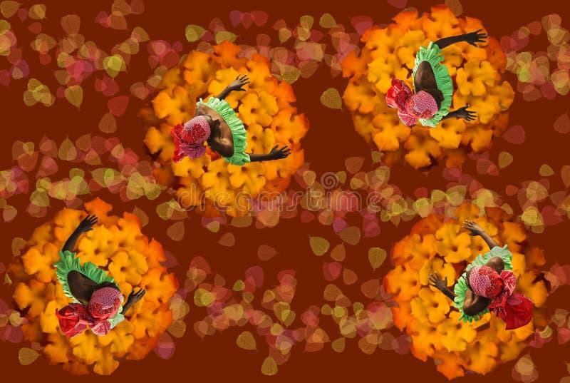 Bailarines exóticos ilustración del vector