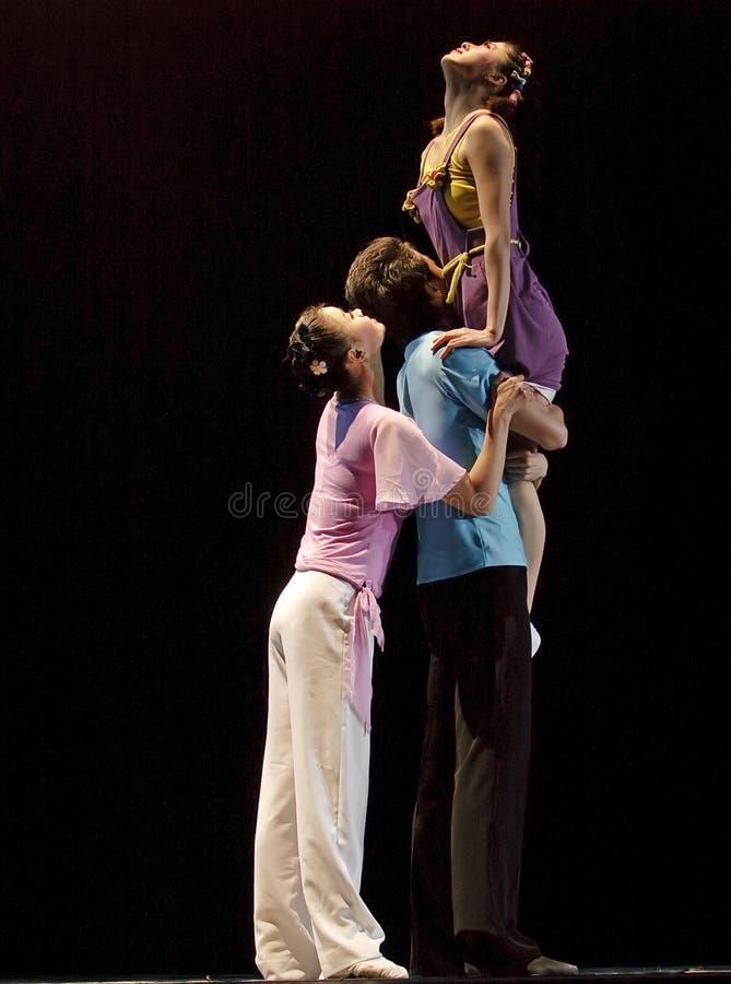 Bailarines modernos chinos foto de archivo libre de regalías