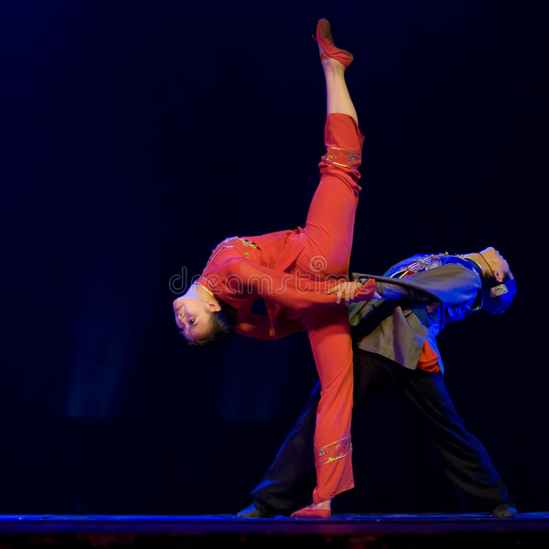 Bailarines modernos chinos fotografía de archivo libre de regalías