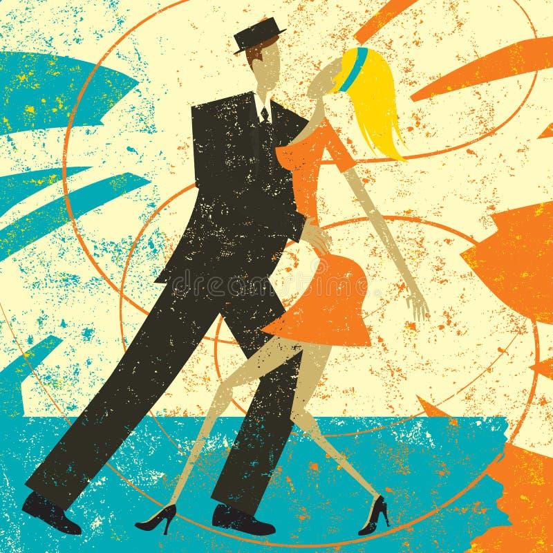 Download Bailarines retros ilustración del vector. Ilustración de retro - 77890158