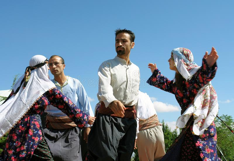 Bailarines turcos fotografía de archivo