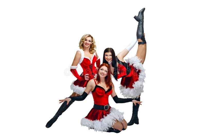 Bailarines y la Navidad imagenes de archivo