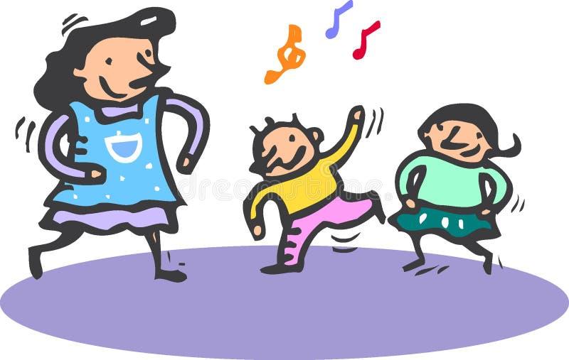 Baile stock de ilustración