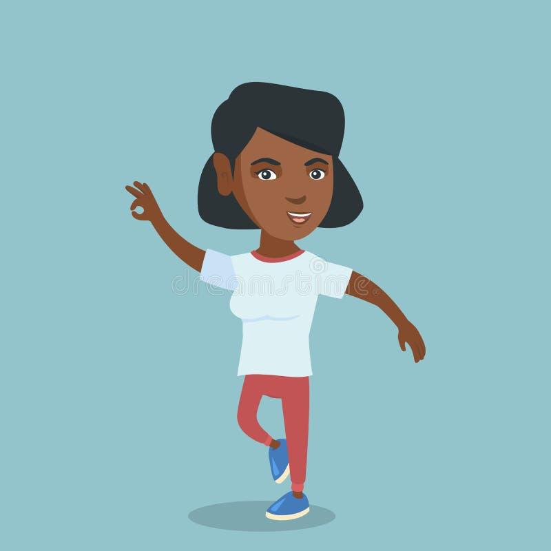 Baile afroamericano alegre joven de la mujer libre illustration
