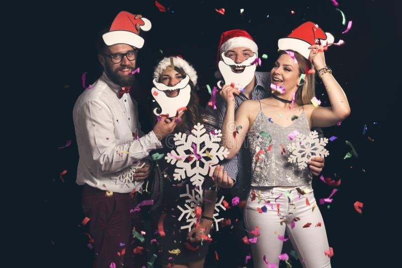 Baile de disfraces del ` s del Año Nuevo imagen de archivo