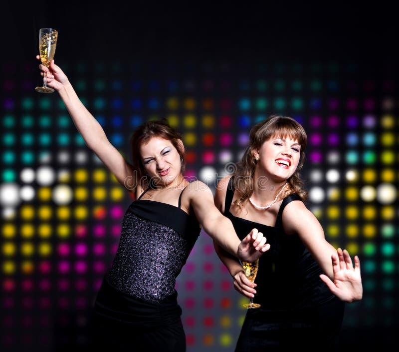 Baile de dos mujeres imagenes de archivo