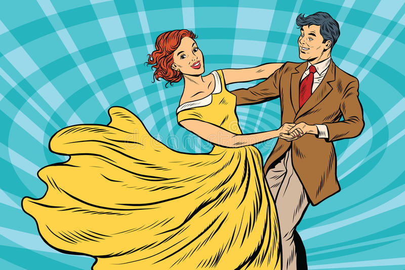 Baile de fin de curso, muchacha de los pares y danza del muchacho libre illustration