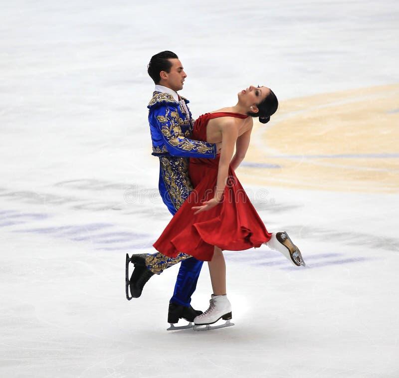 Baile de hielo imagen de archivo