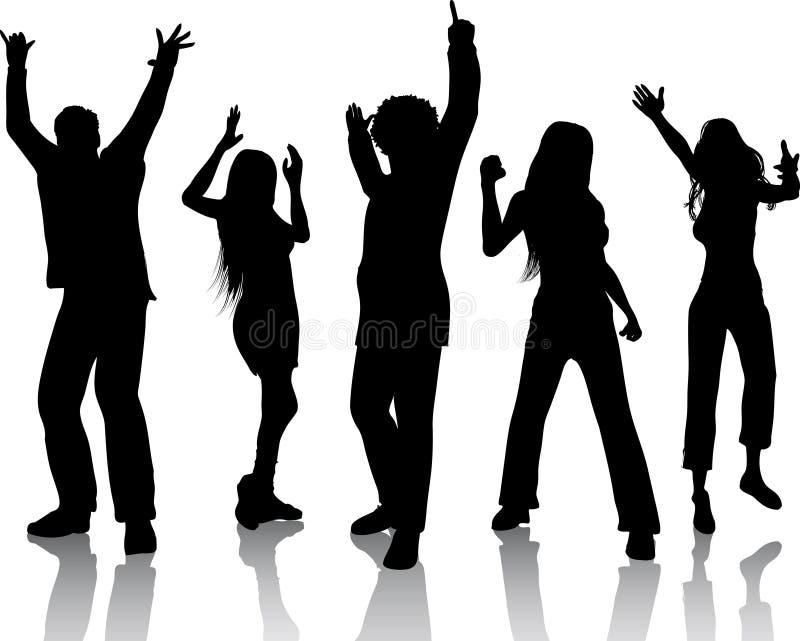 Baile de la gente libre illustration