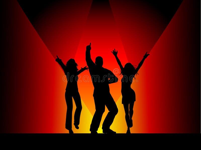 Baile de la gente stock de ilustración