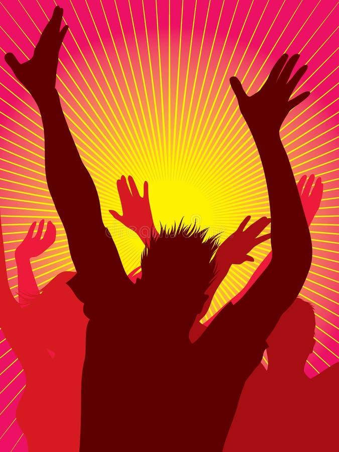 Baile de la gente del partido stock de ilustración