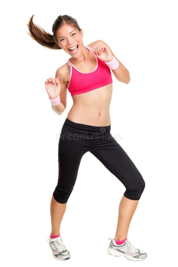 Baile de la mujer de la aptitud de Zumba foto de archivo