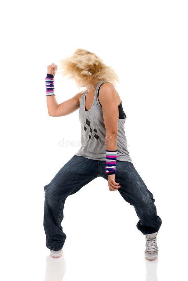 Baile de la mujer joven fotografía de archivo libre de regalías
