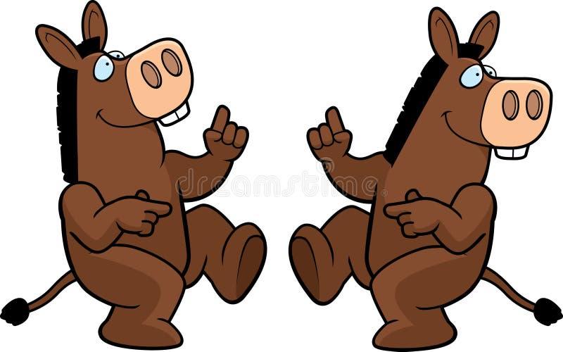 Baile del burro stock de ilustración