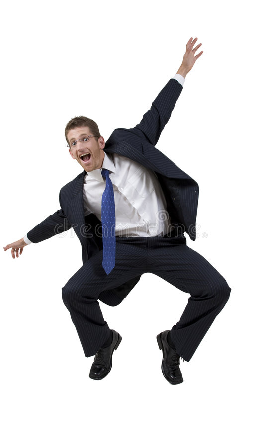 Baile del hombre de negocios foto de archivo libre de regalías