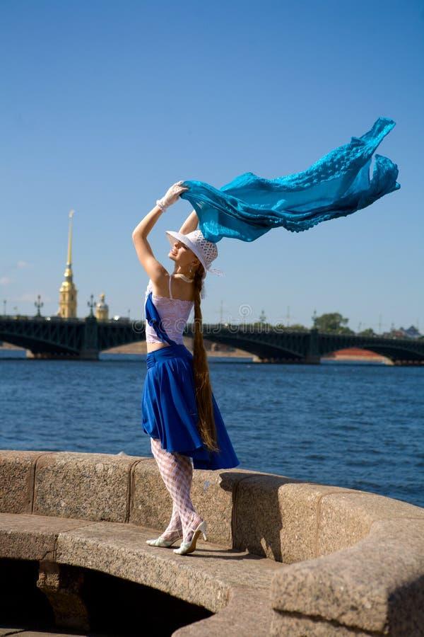 Baile en el viento foto de archivo