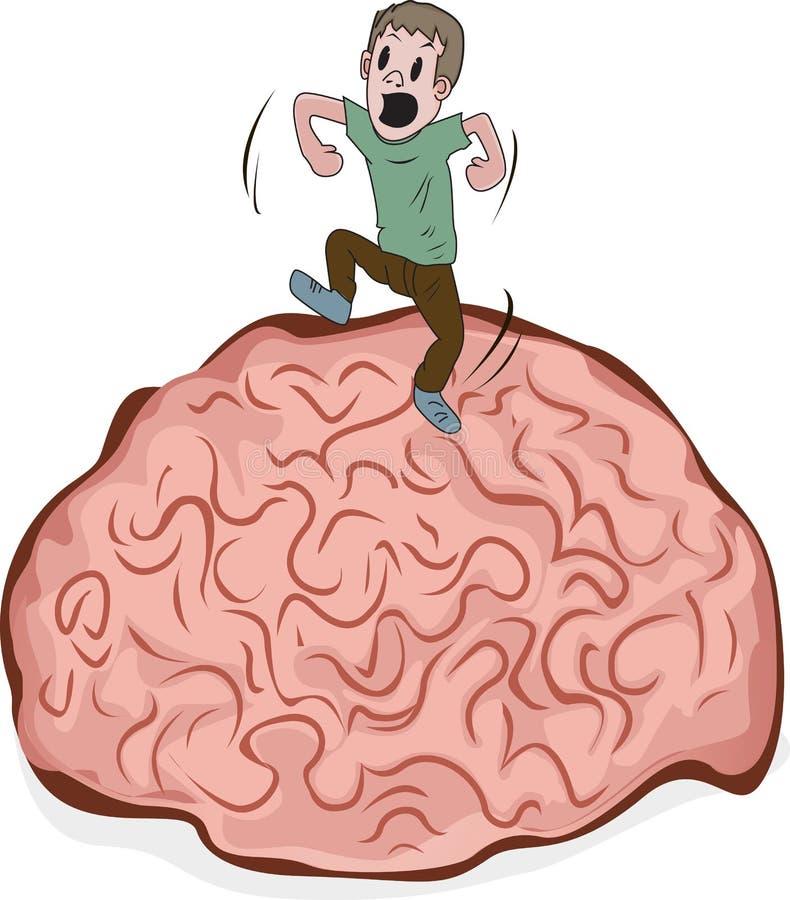 Baile en un cerebro ilustración del vector
