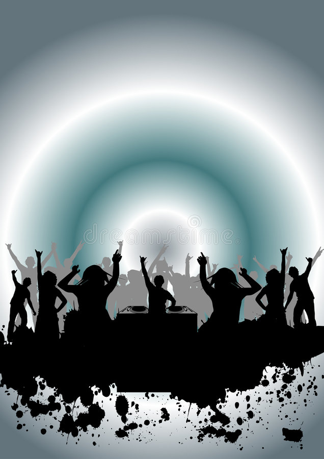 Baile en un partido stock de ilustración