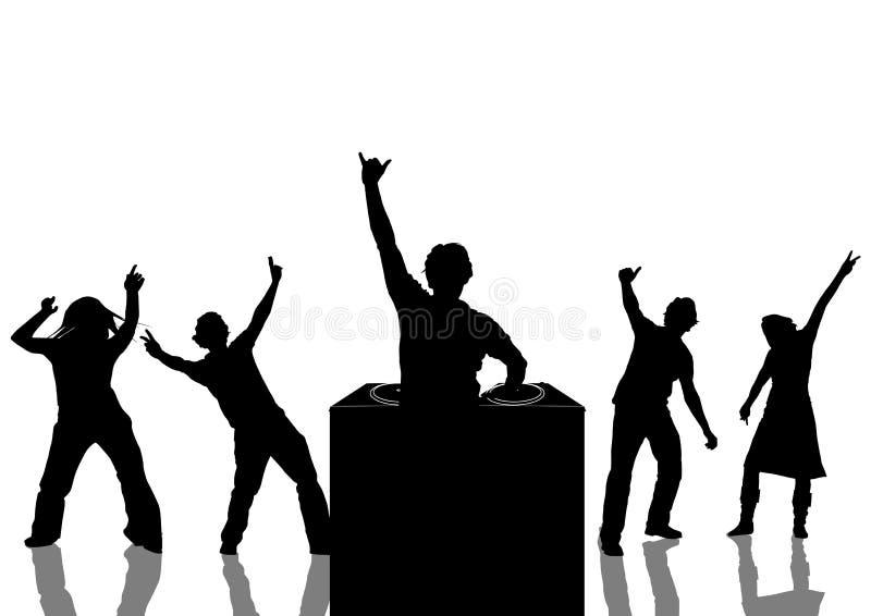 Baile en un partido ilustración del vector
