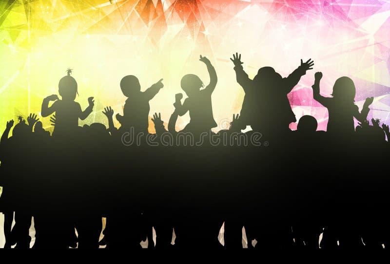Baile feliz de los niños stock de ilustración