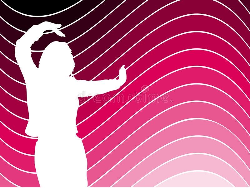 Baile femenino stock de ilustración