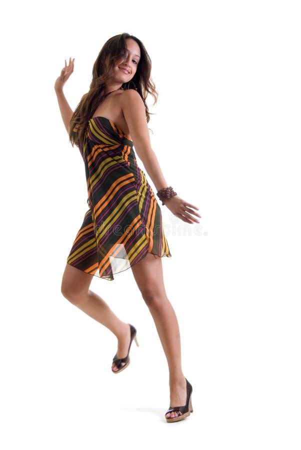 Baile hermoso de la muchacha foto de archivo libre de regalías