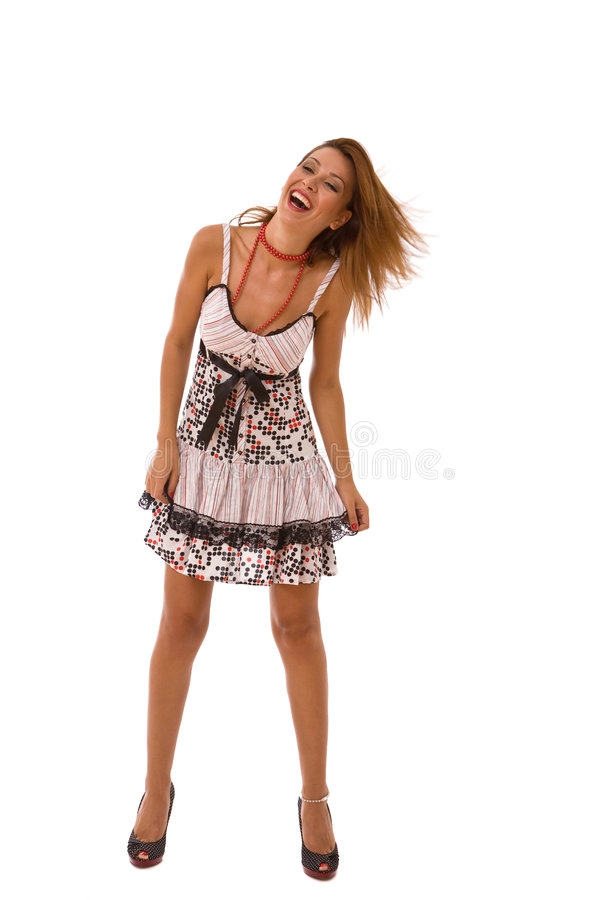 Baile hermoso de la mujer imagen de archivo libre de regalías