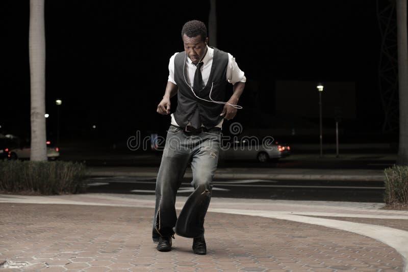 Baile hermoso del hombre imagen de archivo